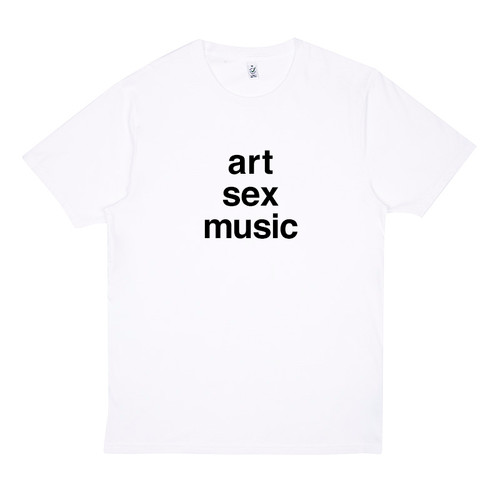 'Art Sex Music' t-shirt.