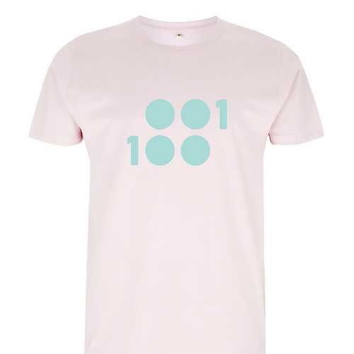 1 of 100 pastel pink 100% Organic Cotton T-Shirt