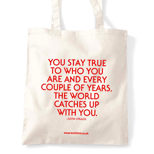 Justin Strauss tote bag