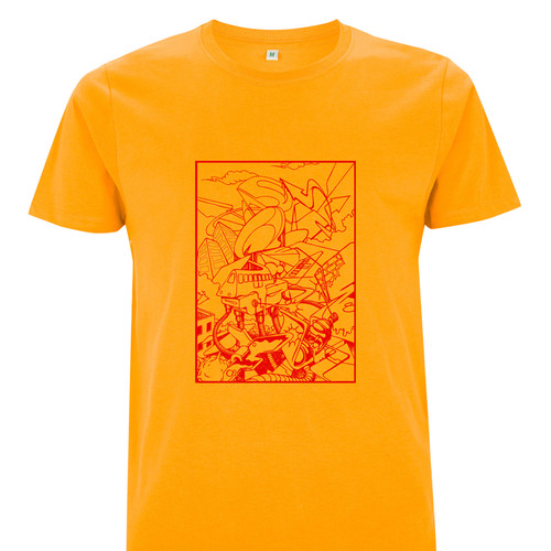 Graffiti inspired graphic T-Shirt on 100% Organic Cotton