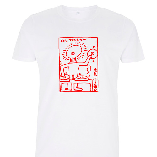 Justin Strauss T-Shirt available now in white