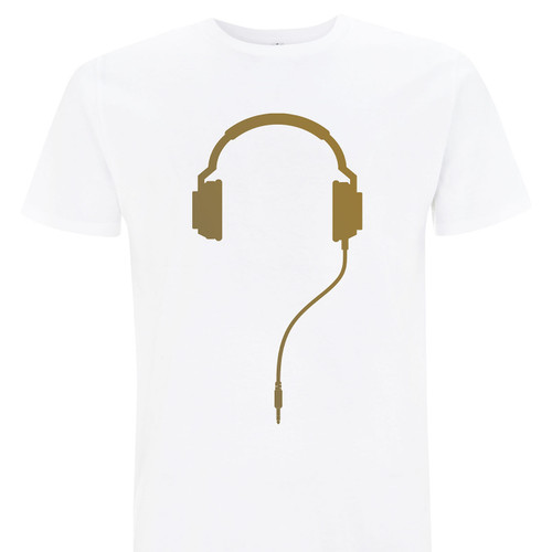 The Secret DJ T-Shirt available now in gold on white
