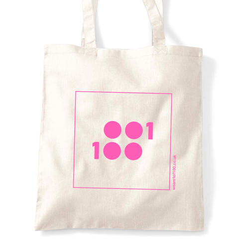 1 of 100 classic tote in pink