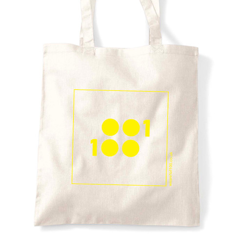 1 of 100 tote yellow