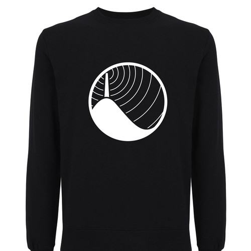 Dark Outside collaboration, quality 100% Organic Cotton sweatshirt. White on black.