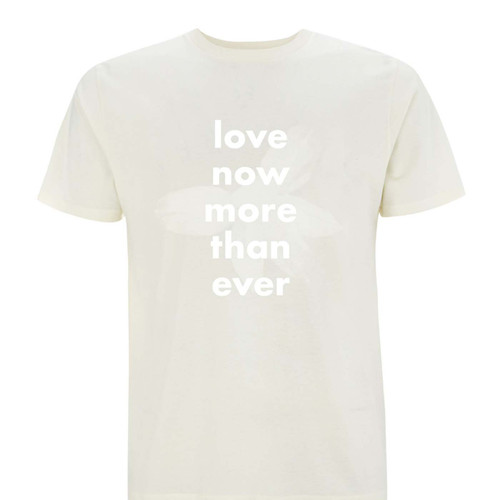 Exclusive collaboration with Erland Cooper. White on natural organic cotton t-shirt