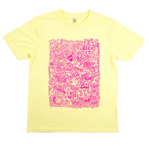 Exclusive Mark Wigan Special Edition bright pink on lemon