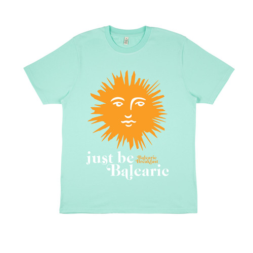 Exclusive Colleen 'Cosmo' Murphy - Just be Balearic organic t-shirt in turquoise