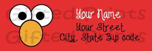 Elmo Sesame Street Return Address Labels