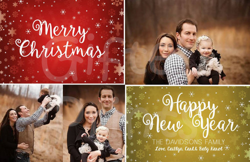 Merry Christmas and Happy New Year Holiday Card 2