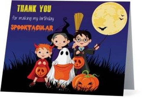 Folded Halloween Thank You Card