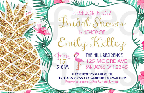 Pineapple Bridal Shower Invitation
