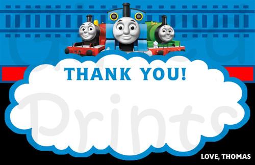 Thomas the Train Thank You Card