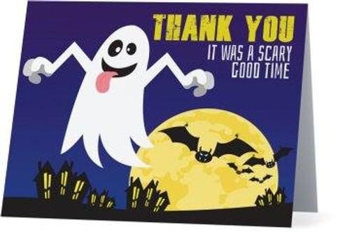 Folded Halloween Thank You Card 2