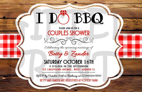 I Do BBQ Bridal Shower Invitation 1