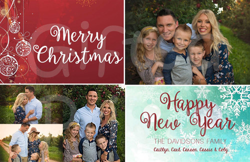 Merry Christmas and Happy New Year Holiday Card 1