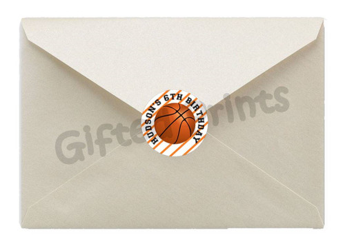 Basketball Envelope Seals