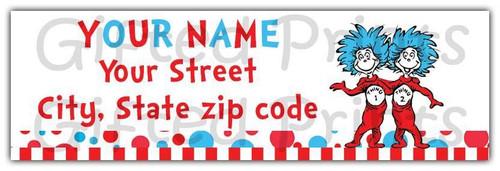 Dr. Seuss Return Address Labels 1