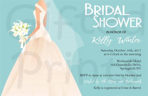 Classic Bridal Shower Invitation 2