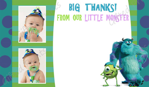 Monsters Inc. Thank You Card