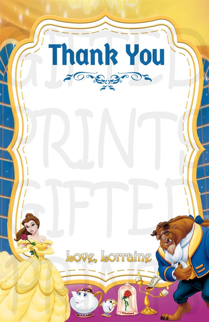 Beauty and the Beast Thank You Card