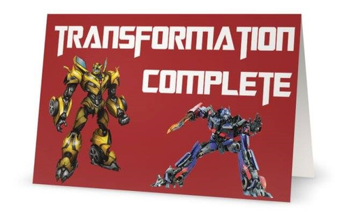 Folded Transformers Thank You Card