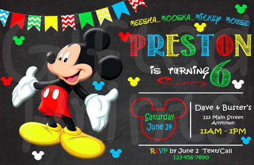 Mouse Birthday Invitation 9