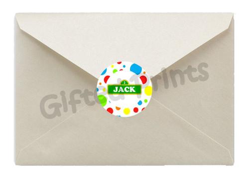 Elmo Luau Envelope Seals 1