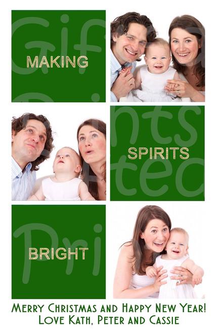 Making Spirits Bright Holiday Card
