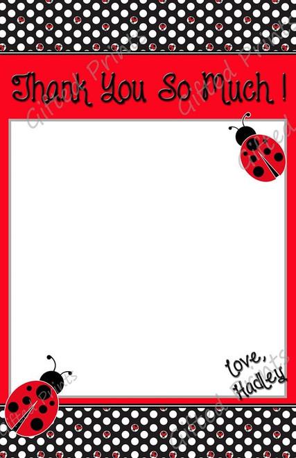 LadyBug Thank You Card 1