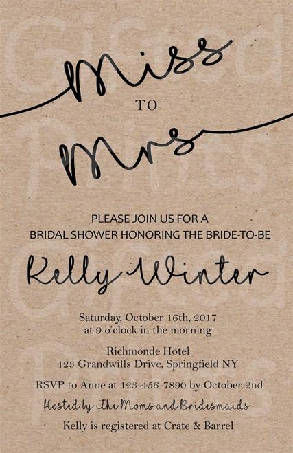 Classic Bridal Shower Invitation 1