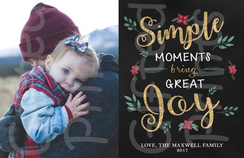 Simple Moments Bring Great Joy Holiday Card