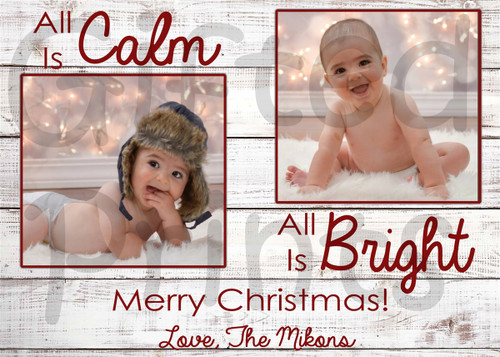 All Is Calm All Is Bright Holiday Card