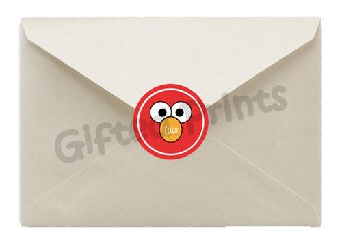 Elmo Sesame Street Envelope Seals
