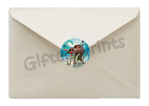 Moana Envelope Seals