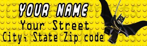 Lego Batman Return Address Labels