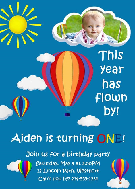 Balloon Birthday Invitation 1