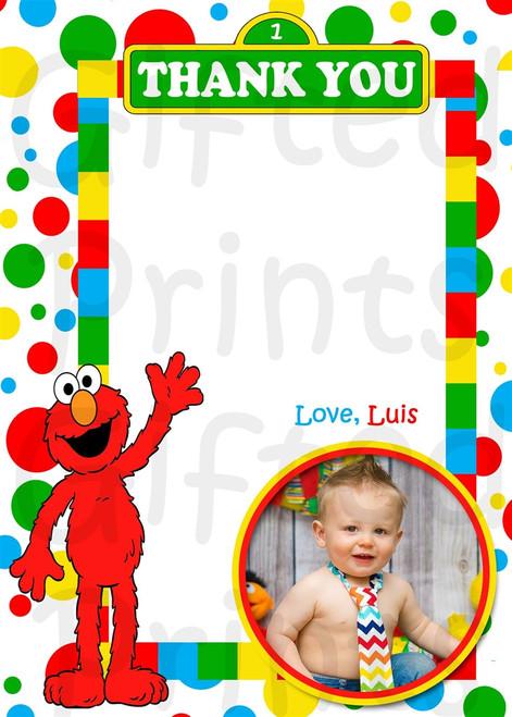 Elmo Thank You Card 1