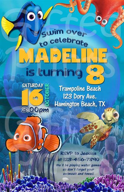 Nemo and Dory Birthday Invitation 1