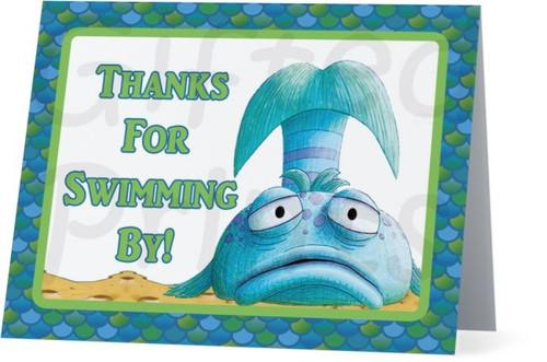 Folded Pout Pout Fish Thank You Card 3