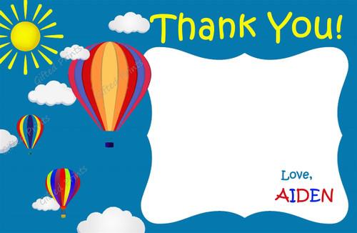 Balloon Thank You Card