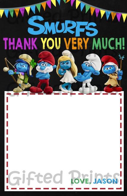 Smurfs Thank You Card