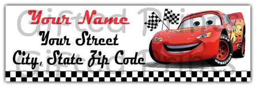 Cars Lightning McQueen Return Address Labels