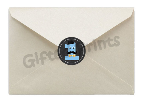 Little Man Mustache Bash Envelope Seals