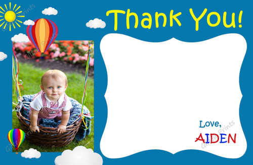 Balloon Thank You Card With Picture