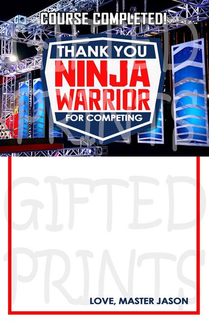 Ninja Warrior Thank You Card 1