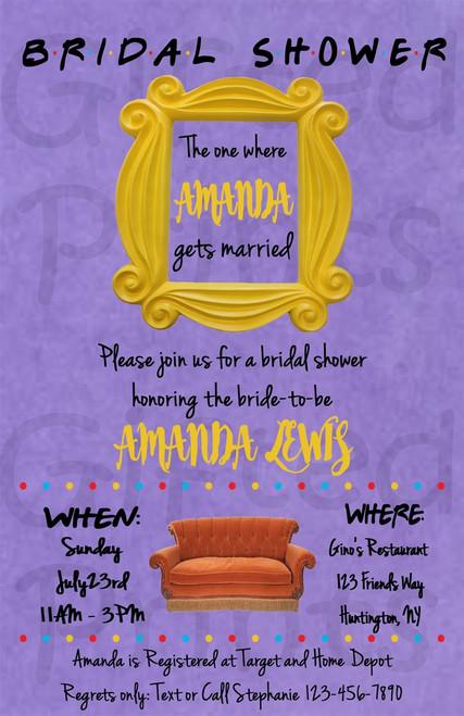 Friends Bridal Shower Invitation