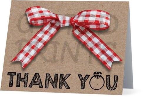Folded I Do BBQ Thank You Card