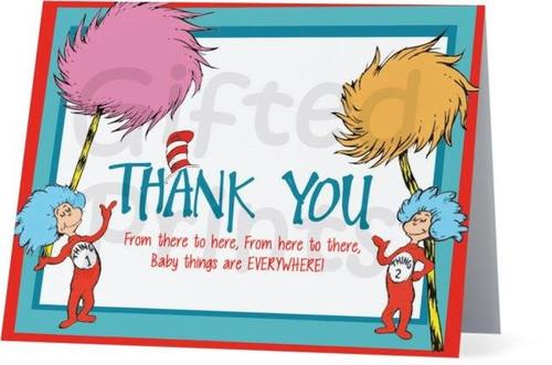 Folded Dr. Seuss Thank You Card 2