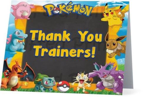 Folded Pokemon Thank You Card